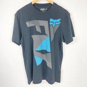 3/$30 Mens Fox Racing Graphic Tee Logo T Shirt M